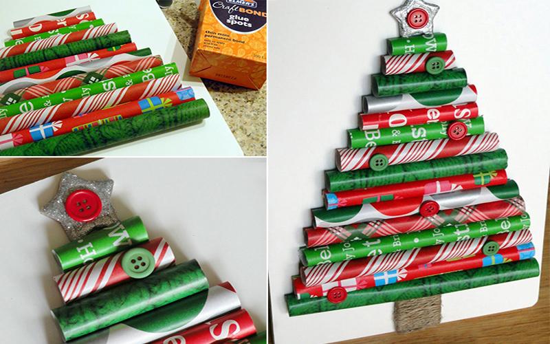Cây thông Noel từ cuộn giấy