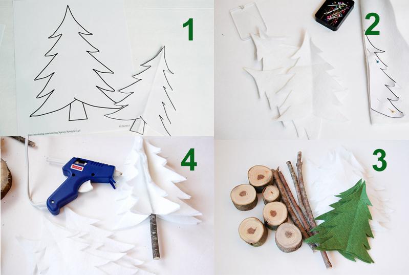 Làm cây Noel xinh xắn để bàn