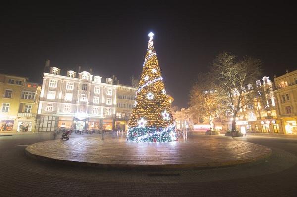 Cây thông Noel đẹp cho khu vực trước khách sạn